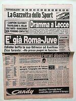 GAZZETTA DELLO SPORT 26-09-1983 INCIDENTI LECCE ROMA-MILAN 3-1 VERONA JUVENTUS