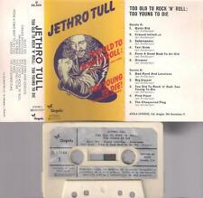 JETHRO TULL Too old to rock ´n´ Roll  RARE  SPANISH  CASSETTE PAPER LABEL Spain