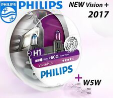 H1 Philips Vision Plus +60% Halogen bulbs 12258VPS2 12V 55W P14.5s + W5W T10