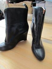 Ladies Clarks black snakeskin ankle boots size 6 1/2