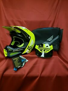 Fly Formula with AIS helmet Hi-Vis Yellow/Black size Medium (57-58 cm)