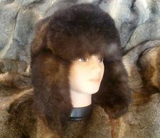 New Zealand Possum Fur Man's Bush Hat (Fur Outside) - Natural Brown