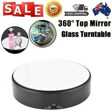 18cm Mirror Glass 360 Rotating Rotary Display Stand Turntable for Shop Mall