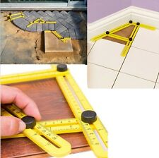 Four-Sided Ruler Measuring Instrument Template Angle-izer Tool Mechanism Slides