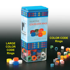 Dental Silicone Code Rings LARGE, Box of 80 Pcs Assorted Color