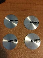 4 PCS BRAND NEW SILVER ADVAN racing Sticker wheel center cap emblem logo 45 mm