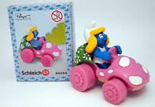 40265 Schlumpfinchen im Auto / smurfette in mushroom car - new in box !