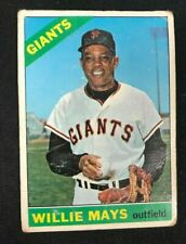 1966 TOPPS BASEBALL CARD #1 WILLIE MAYS BV $250 LOW GRADE!!
