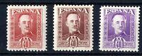 Muy Raros sellos no emitidos España Franco 40 céntimos colores diferentes