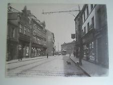 Repro Photo Vintage Scene Possibly Doncaster Tram & Shop Fronts In View #2