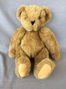 "VERMONT TEDDY BEAR Brown 15"" stuffed animal Made in USA"