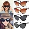 Womens Retro Vintage Cat Eye Sunglasses Large Shades Oversized Fashion Designer