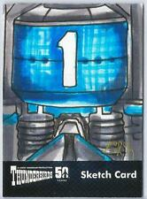 Thunderbirds 50 Years Sketch Card by Steven Burch of Thunderbird One