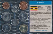 uganda UNC coin set 1987-2008 1 Shilling until 500 Shilling (9031266