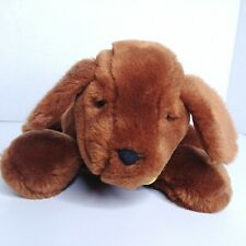 "Genevieve Madeline's Dog Eden Plush Stuffed Animal 10"" Yellow Polka Dot Bow 1998"