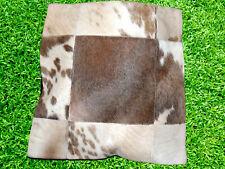 COWHIDE RUG LEATHER CUSHION COVER COW HIDE HAIR ON (15'' x 15'') CUSHION COVER