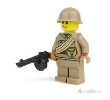 WW2 WWII Custom Russischer Soldat mit PPSh, Figur aus LEGO® Teilen