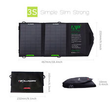 Slim 8W Solar Panel Foldable Charger Backup for 5V USB-charged Device iPhone5 6