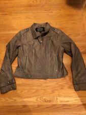 Blanc Noir Womens Leather Jacket Size Large Light Brown