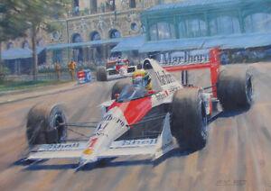 Ayrton Senna McLaren Formula 1 One F1 Motor Racing Car Birthday Card