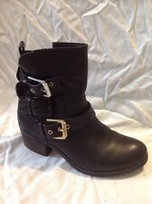 Atmosphere Black Ankle Leather Boots Size 39