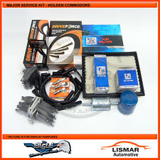 Major Service Kit with DRIVEFORCE Brake pads for HOLDEN COMMODORE VY 3.8Ltr V6