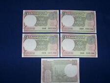 Lot of 5 pcs Bank Note from India 1 Rupee Uncirculated