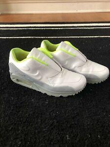 Nike Womens Air Max 90 Sacai Slip-On (Size 5.5 , White/Wolf Grey/Volt)