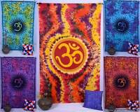 Indian Om Hippie Mandala Psychedelic Twin Wall Hanging Tapestry Throw Decor Art