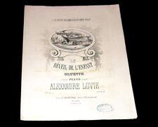 le réveil de l'enfant bluette partition piano 1860 Alexandre Lovie