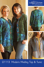 Modern Medley Top & Tunic # IJ1113- NEW Sewing Pattern From Indygo Junction!