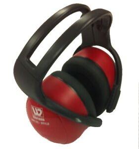 Wenaas over the ear Earmuffs 33dB SNR Headband Red Ear Defenders Lightweight
