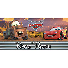 Disney Cars Personalised Bedroom Door Sign  - Any Text/Name (2)