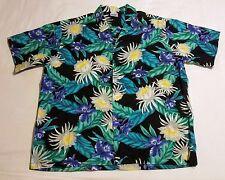 2XL Hana Fashion Hawaiian Shirt Cruise Beach Wear Pocket Hibiscus Flowers USA