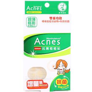 Mentholatum Acnes Medicated Acne Dressing Patch Pimple Stickers 36 pieces/2 size