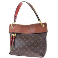 Auth LOUIS VUITTON LV Tuileries Hobo Shoulder Bag Monogram Brown M43155 87MG347