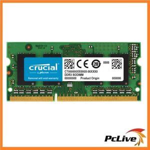 Crucial 4GB (1x4GB) DDR3 SODIMM 1866MHz for MAC 1.35V Single Stick for Apple RAM