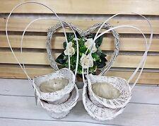 4 Streukörbchen Blumenkörbchen Blumen streuen  Hochzeit weiß matt Korb