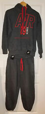 Mens Nike Air Running since 89 Tracksuit Dark Grey Charcoal Top Bottoms size M