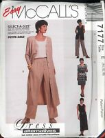Easy Women's Dress Unlined Vest Pants Pattern Size 14 16 18 McCall's 7177 Uncut