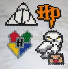 : Perler Pixel Bead Art ~ Harry Potter Icons logo hedwig crest hallows handmade
