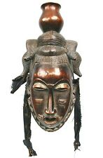 Art Africain Tribal - Ancien Masque de Portage Baoulé - Superbe Patine - 39 Cms