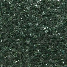 4mm Cup Sequins Forest Green Transparent See-Thru Made in USA