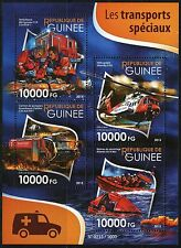 GUINEA 2015 SPECIAL TRANSPORT RESCUE VEHICLES SHEET MINT NH