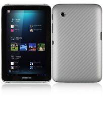 Skinomi Carbon Fiber Silver Skin+Screen Protector for Samsung Galaxy Tab 2 7.0