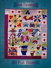 In Full Bloom - applique & embellishment quilt book - Sue Spargo