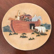 Noah's Ark Decorative Art Clay Plate or Disc Decorative