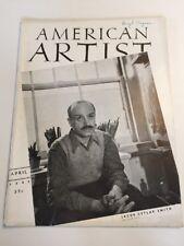 American Artist Magazine April 1942, Jacob Getlar Smith, Georges Schreiber