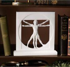 The Vitruvian Man by Leonardo Da Vinci White Statue Figure Sculpture  HOME DECOR