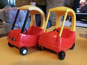 X2 Classic Little Tikes Cozy Coupe Mini Dolls House Car Small Red And Yellow car